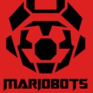 Mariobots! [Black (on red)] by MikePHearn