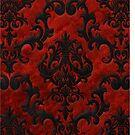 Red Velvet Damask by Megan Noble