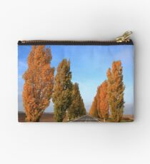 Trees on the road side Studio Pouch