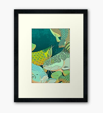Golden Arowana Framed Print