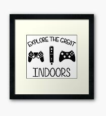 Explore The Great Indoors Video Games Framed Print
