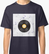 vinyl record with orange label Classic T-Shirt