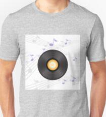 vinyl record with orange label Unisex T-Shirt