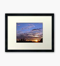 Sunset in St Quentin de Caplong (France) Framed Print