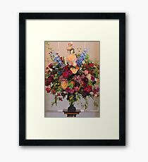 Flowers In The Mansion Framed Print