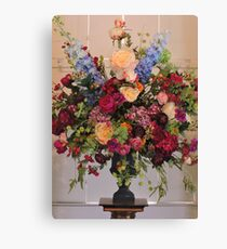 Flowers In The Mansion Canvas Print