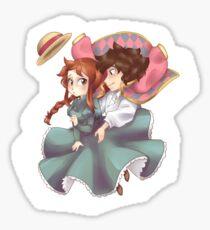 Tsuzen's moving castel Sticker