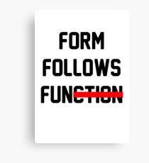 Form Follows Fun Canvas Print