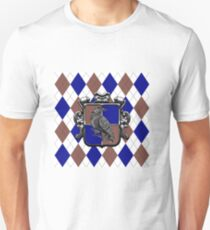 Raven House Crest on Argyle Unisex T-Shirt