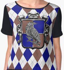 Raven House Crest on Argyle Chiffon Top