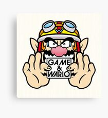 Game And Wario Canvas Print