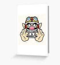 Game And Wario Greeting Card