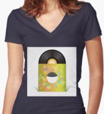 vinyl record Women's Fitted V-Neck T-Shirt