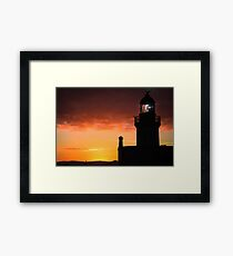 Chanonry Point Lighthouse at Sunset Framed Print