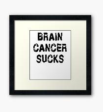 Brain Cancer T Shirt Framed Print