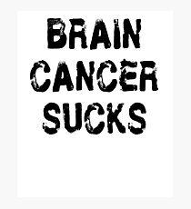 Brain Cancer T Shirt Photographic Print