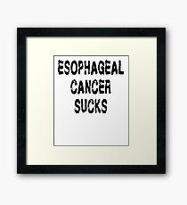 Esophageal Cancer T Shirt Framed Print