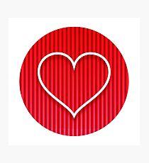 Love Coeur Photographic Print