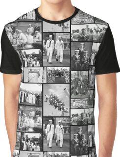 Vintage Navy Men  Graphic T-Shirt