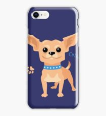 Dog tan shorthaired Chihuahua iPhone Case/Skin