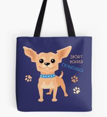 Dog tan shorthaired Chihuahua Tote Bag