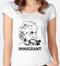 Einstein Immigrant Women's Fitted Scoop T-Shirt