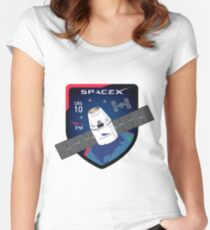 CRS-10 Mission Logo Women's Fitted Scoop T-Shirt