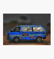 The Magic Bus - Blue Danfu Photographic Print