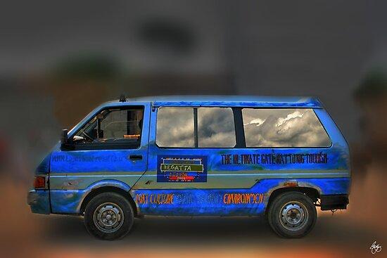 The Magic Bus - Blue Danfu by Wayne King