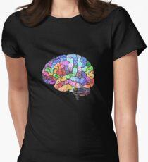 Das Regenbogen-Gehirn Tailliertes T-Shirt für Frauen