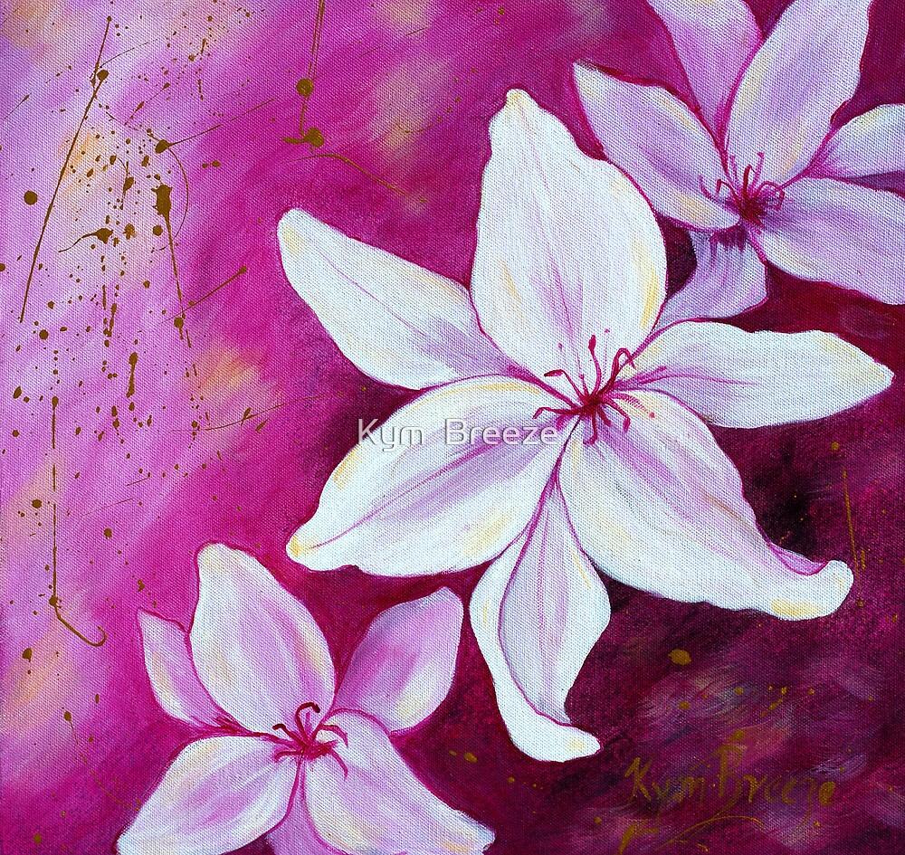 Floating Flowers by Kym  Breeze