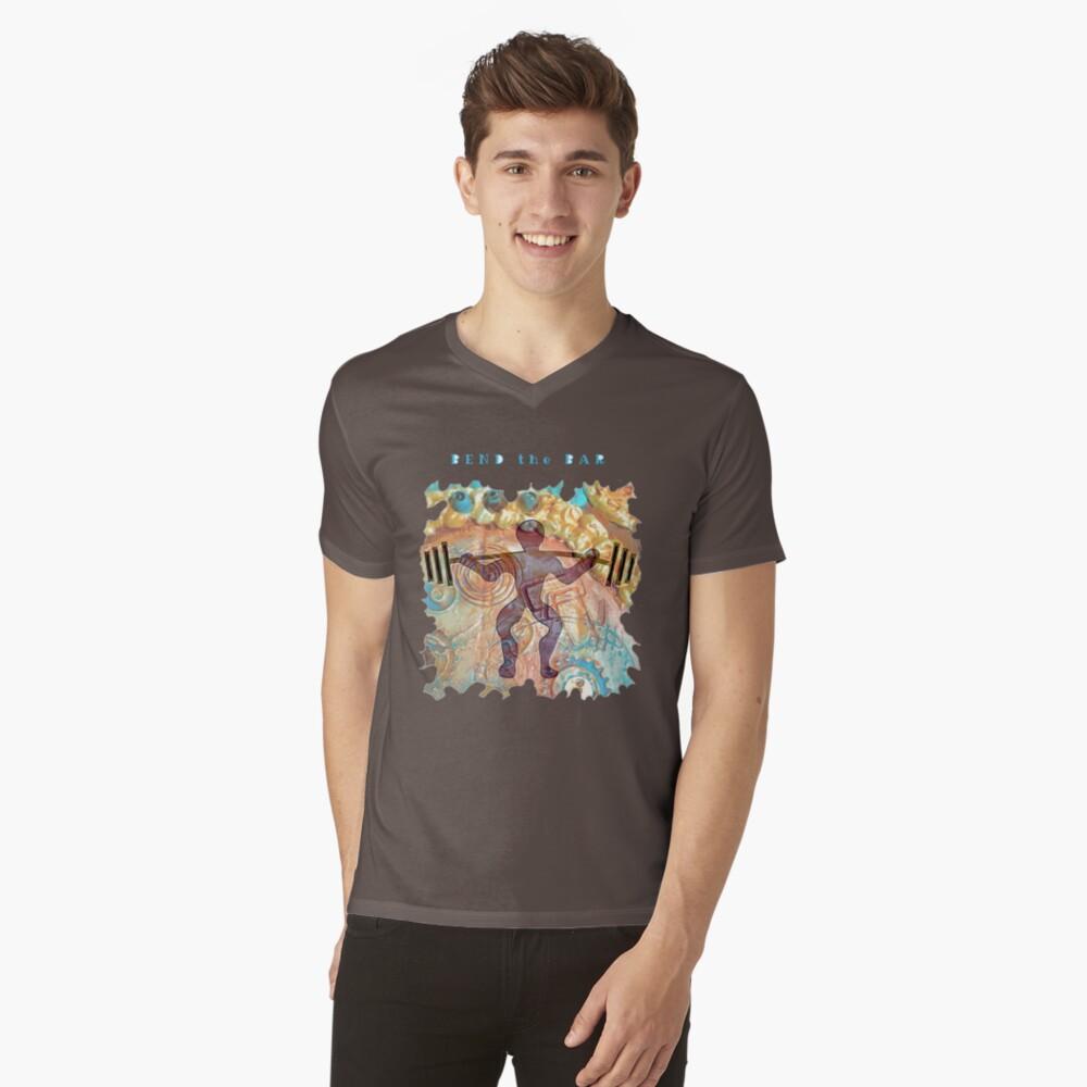 WEIGHT LIFTER WORKOUT - BEND THE BAR V-Neck T-Shirt