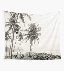 Coconut Trees and Motorbikes Wall Tapestry