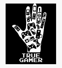 True Gamer - Gaming Photographic Print