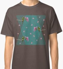 Parakeet and flowers Classic T-Shirt