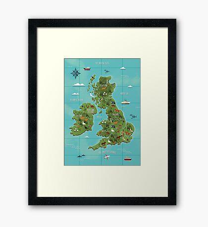 British Isles  Framed Print