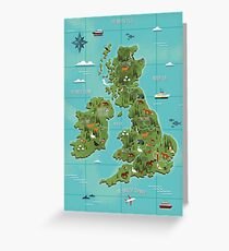 British Isles  Greeting Card