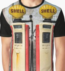 Old Petrol Pumps Graphic T-Shirt