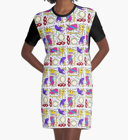Mardi Gras Graphic T-Shirt Dress