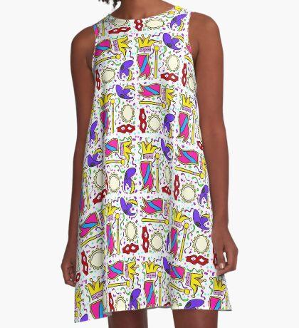 Mardi Gras A-Line Dress