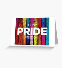 Liberty Pride Freedom Rainbow Fence Greeting Card