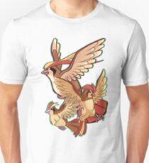 Pokémon Pidgey, Piddgeotto y Pidgeot Unisex T-Shirt