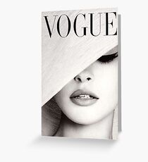 Vogue  Greeting Card