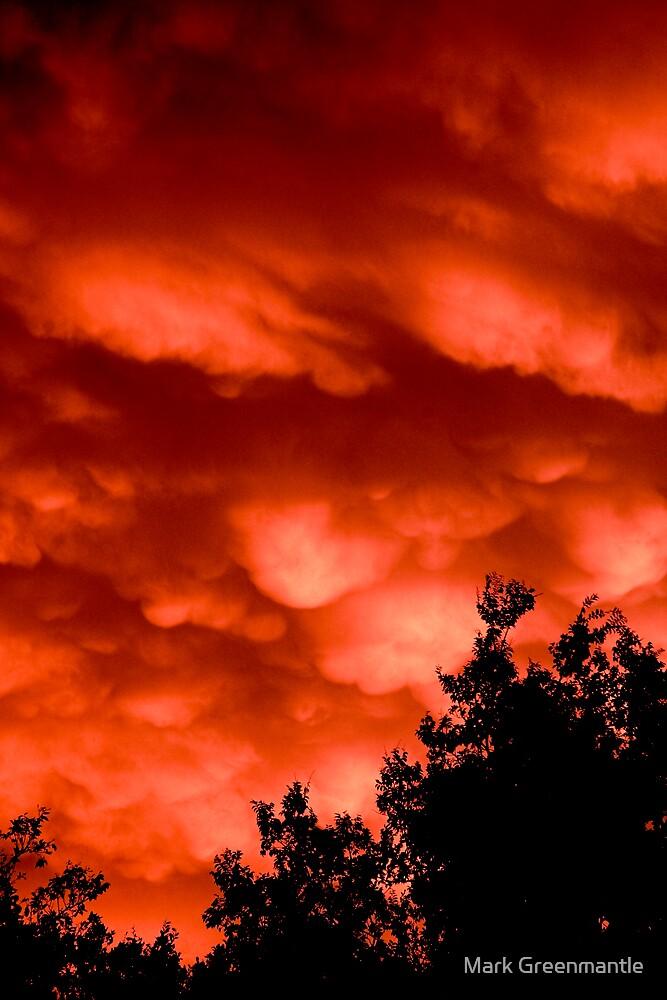 broken Mammatus at sunset by Mark Greenmantle