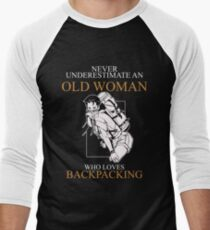 Never Underestimate Old Woman Backpacking T-shirts T-Shirt