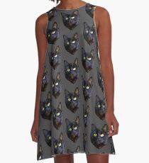 Black Cat A-Line Dress