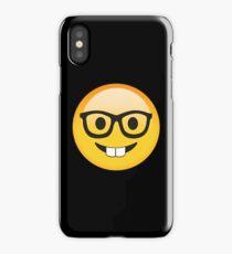 Funny Kids Smart Nerdy Emoji - Gift Idea for Women Men Boys And Girls iPhone Case/Skin