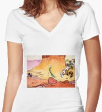 Calvin and Hobbes Weirdos From Another Planet Women's Fitted V-Neck T-Shirt