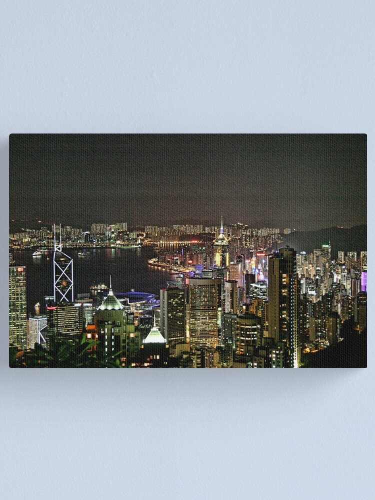 Alternate view of Hong Kong - View from the peak Canvas Print