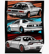 Dream Cars RX7 Generations Poster